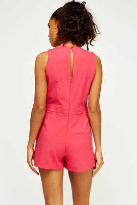 Pink Wrap Playsuit