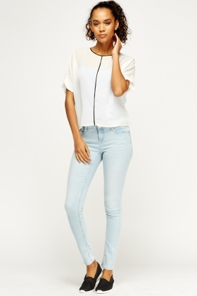 Sky Blue Denim Skinny Jeans