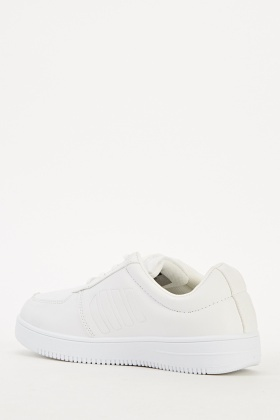 Lace Up White Trainers