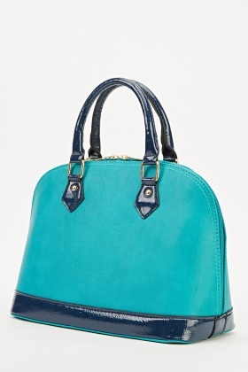 Two Tone Faux Leather Bag