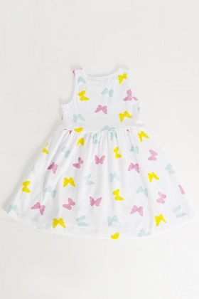 Butterfly Print Girls Dress