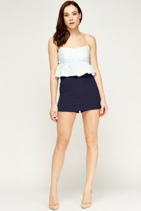 Bodice Mini Overlay Playsuit