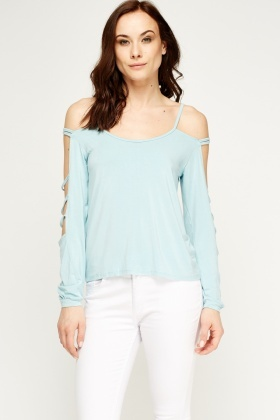 Distressed Sleeve Top