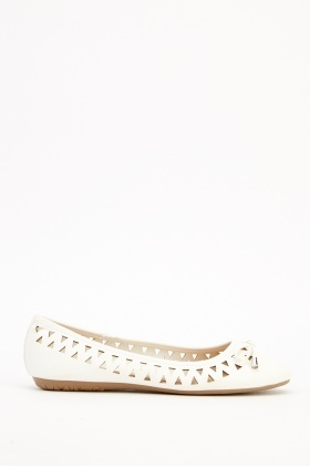 Laser Cut Ballet Pumps