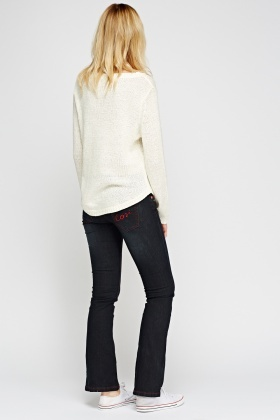Boot Leg Red Trim Jeans