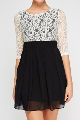 Lace Insert Bodice Dress