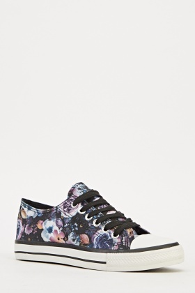 Floral Low Top Trainers