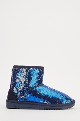 Sequin Winter Ankle Boots