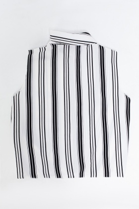 Striped Knot Hem Top