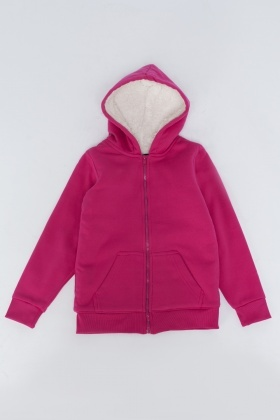 Zipped Fleece Lined Hoodie