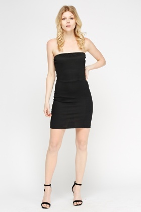 Bandeau Textured Mini Dress