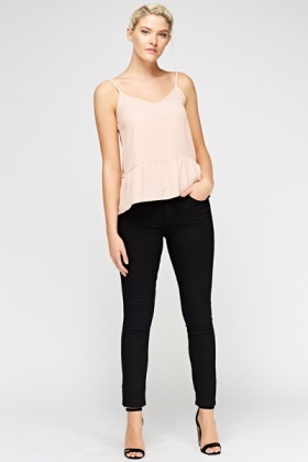 Black Super Skinny Low Waist Jeans