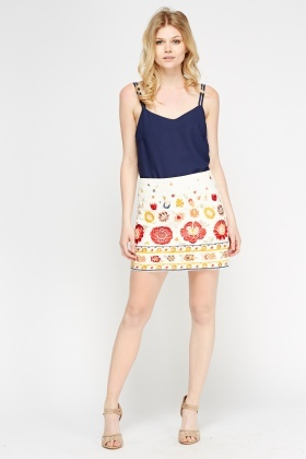 Womens Little Mistress White Silver Skirts By Chloe Lewis Organza Embroidered  Skirt And