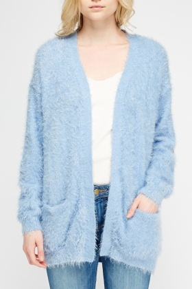 Eyelash Metallic Insert Cardigan