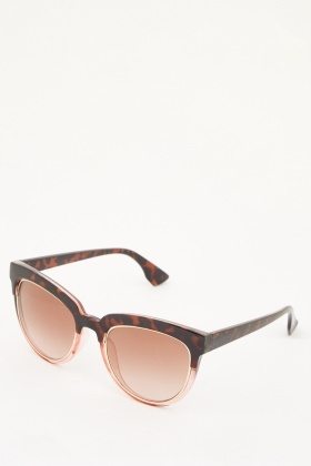 Tortoise Print Sunglasses  tortoise print contrast wayfarer sunglasses just 5