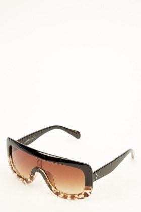 Brown Multi Shield Sunglasses