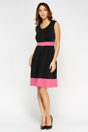Scuba Two Tone Swing Dress