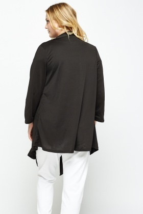 Asymmetric Open Front Cardigan
