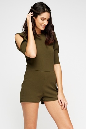 Cold Shoulder Playsuit