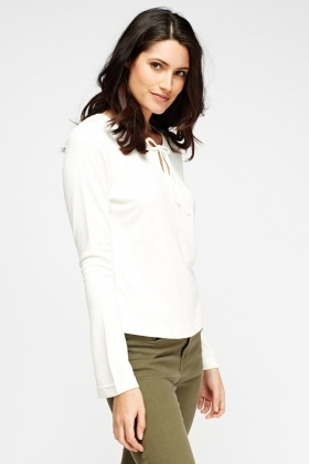 Keyhole Long Sleeve Top