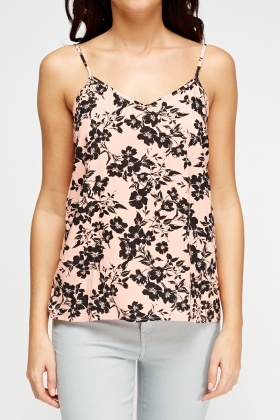 Light Pink Floral Cami Top