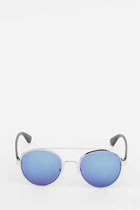Retro Round Frame Sunglasses