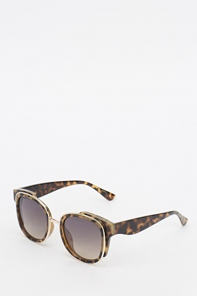 Tortoise Print Sunglasses  tortoise print sunglasses amber multi just 5