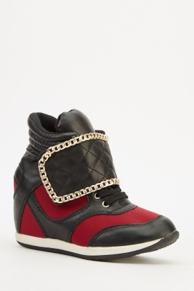 Contrast Chained High Top Trainers