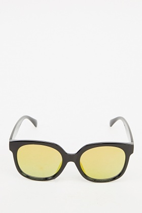Classic Wayfarer Mirrored Sunglasses