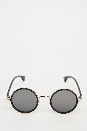 Detailed Round Sunglasses
