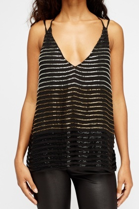 Embellished Detailed Back Cami Top