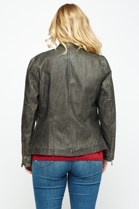Faux Leather Classic Jacket
