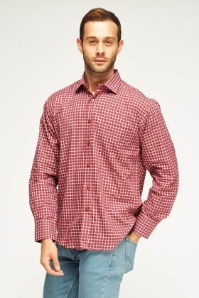 Mens Grid Check Shirt