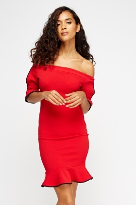 Off Shoulder Flared Dress