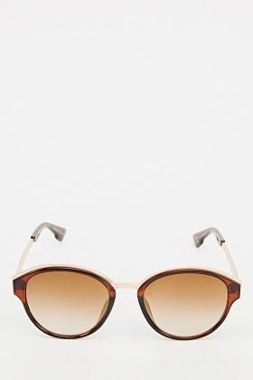 Printed Mirrored Tortoise Sunglasses