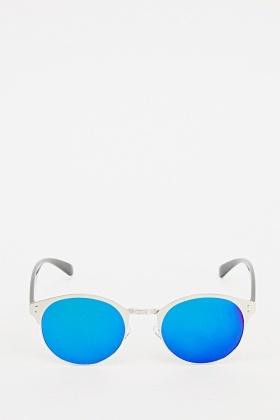 Mirrored Round Retro Sunglasses