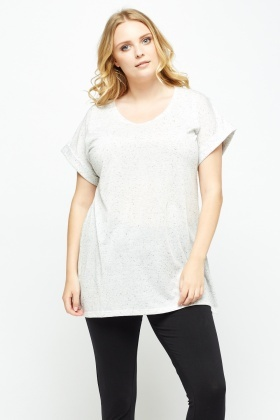 Speckled Light Grey Top