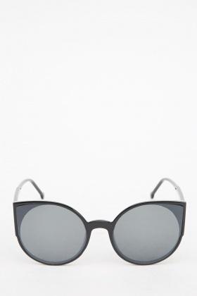 Black Round Cat Eyes Sunglasses