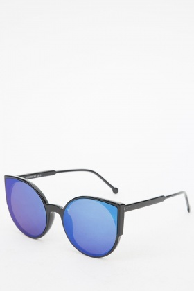 colored sunglasses u82y  Multi Colored Cat Eyes Sunglasses