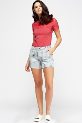 Geo Print Casual Shorts