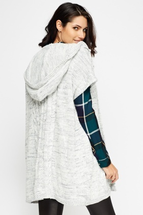 Hooded Speckled Cardigan