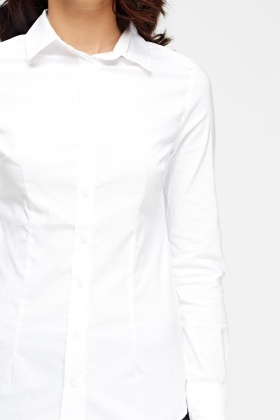 White Fitted Shirt