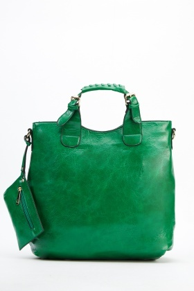 2 In 1 Faux Leather Bag