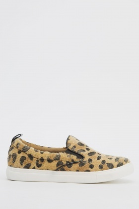 Animal Printed Slip Ons