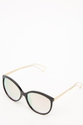 Contrast Cat Eye Sunglasses