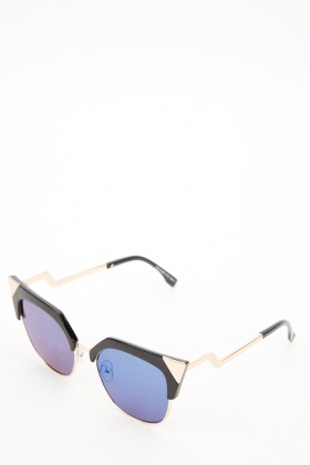 Detailed Clubmaster Sunglasses