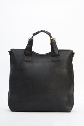 Faux Leather 2 In 1 Bag