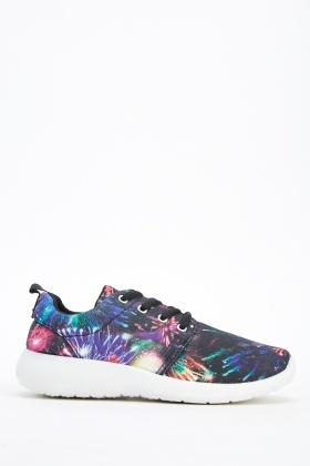 Firework Printed Low Top Trainers