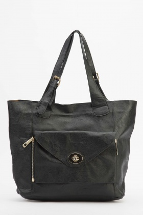 Front Envelope Pocket Tote Bag