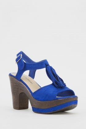 Tassel Detail Platformed Sandals